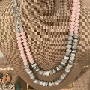 Beautiful blush and grey necklace